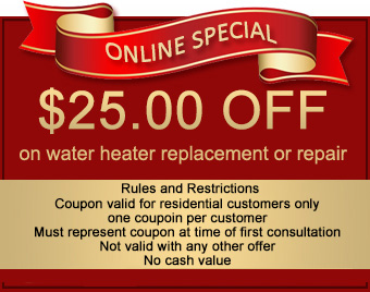 water heater service coupon